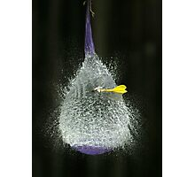 Purple balloon & dart Photographic Print