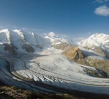 View from Diavolezza, Engadin, Switzerland by peterwey
