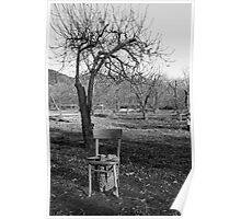 Lonely Chair in November Poster
