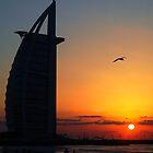 Burj Al Arab at Sunset 2 by Graham Taylor
