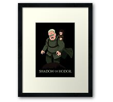 Shadow of Hodor Framed Print