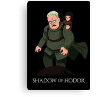 Shadow of Hodor Canvas Print