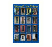 Doors of New Orleans Art Print