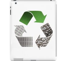 Recycle symbol with newspaper glass and metal iPad Case/Skin