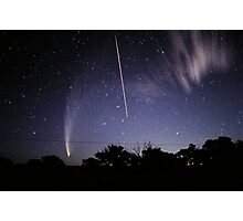 Comet McNaught meets the Space Shuttle Photographic Print
