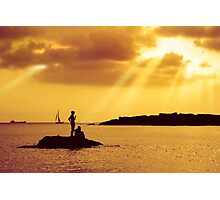 Silhouettes on the Beach Photographic Print