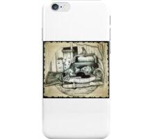 Rusty car drawing iPhone Case/Skin