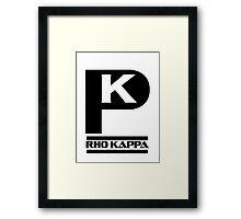 Rho Kappa Shirt Logo 2 Framed Print