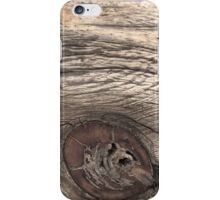 Old Weathered Wood with Knot iPhone Case/Skin