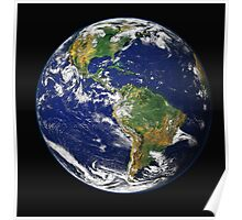 Blue Marble Earth Poster