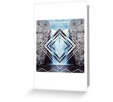 Waterfall Polyscape Greeting Card