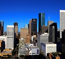 Downtown Houston by Judy Vincent