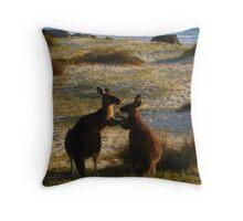 Kangaroos times two Throw Pillow