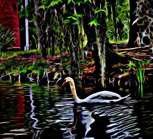 Neon Swan by Judy Vincent