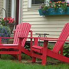Adirondack chairs in Milwaukee, Wisconsin by Ronee van Deemter
