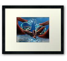 Eco-balance Framed Print