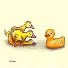Little ducklings curious friend by Rebecca Rees