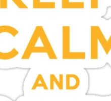 Keep Calm and Catch Beads - Gold (Fleur) Sticker