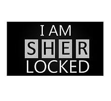 'I Am Sherlocked' Photographic Print