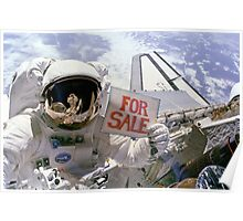 Space Shuttle For Sale Poster