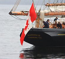 Bluenose II Stern View by HALIFAXPHOTO