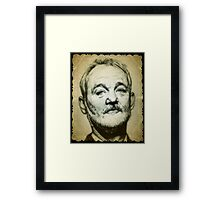 Bill Murray drawing Framed Print