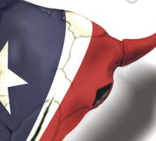 Texan Skull Sticker