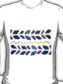 Watercolor Blue and Purple Arrows T-Shirt