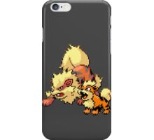Arcanine and Growlithe - pixel art iPhone Case/Skin