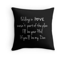 Falling in love (Black) (Dan & Phil) Throw Pillow