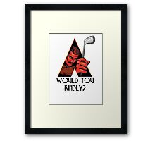 A Kindly Clockwork Framed Print