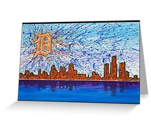 Colorful Hometown Detroit Greeting Card