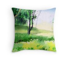 Let's go for a walk Throw Pillow