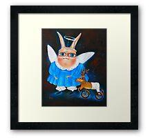 "Children's Games-2. 23"" x 19"". Original Painting - Request Price Framed Print"