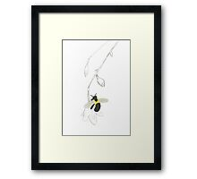 Bee in the Spring Framed Print