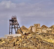 DERELICT PITHEAD, LA UNION, SPAIN by Squealia