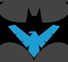 Batman VS Nightwing by AvatarSkyBison