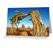 Monument Valley Tree Greeting Card