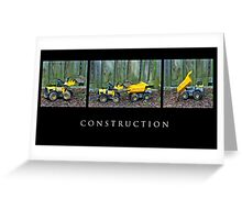 Construction Greeting Card