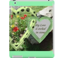 My Love Is Etched in Stone iPad Case/Skin
