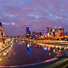 The Yarra River. by Alf Caruana
