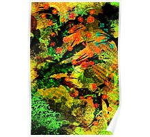 Abstract Art with flowers 2015-02-01 Poster