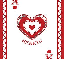 Ace of Hearts Card - Hylian Court Legend of Zelda by sorenkalla