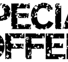 Special Offer (Black) Sticker