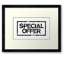 Special Offer (Black) Framed Print