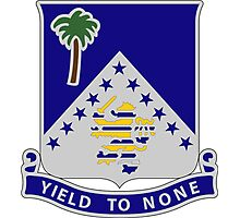 125th Infantry Regiment - Yield To None Photographic Print