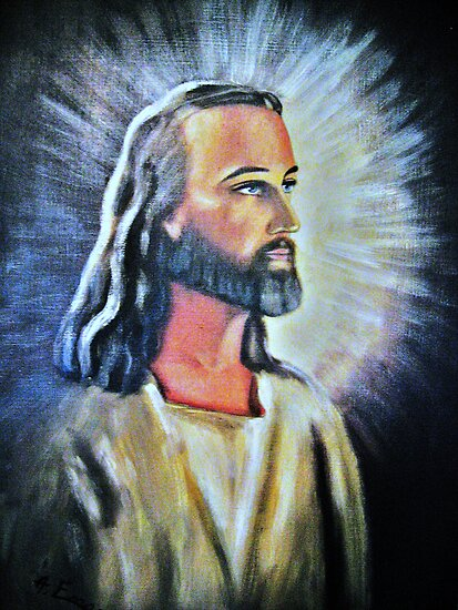 An Artists Portrayal Of Jesus by HELUA