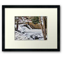 Winterfalls Framed Print