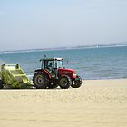 Tractor On The Beach by 6719jason