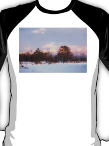 Watercolor Winter - Colorful Day on the Lake T-Shirt